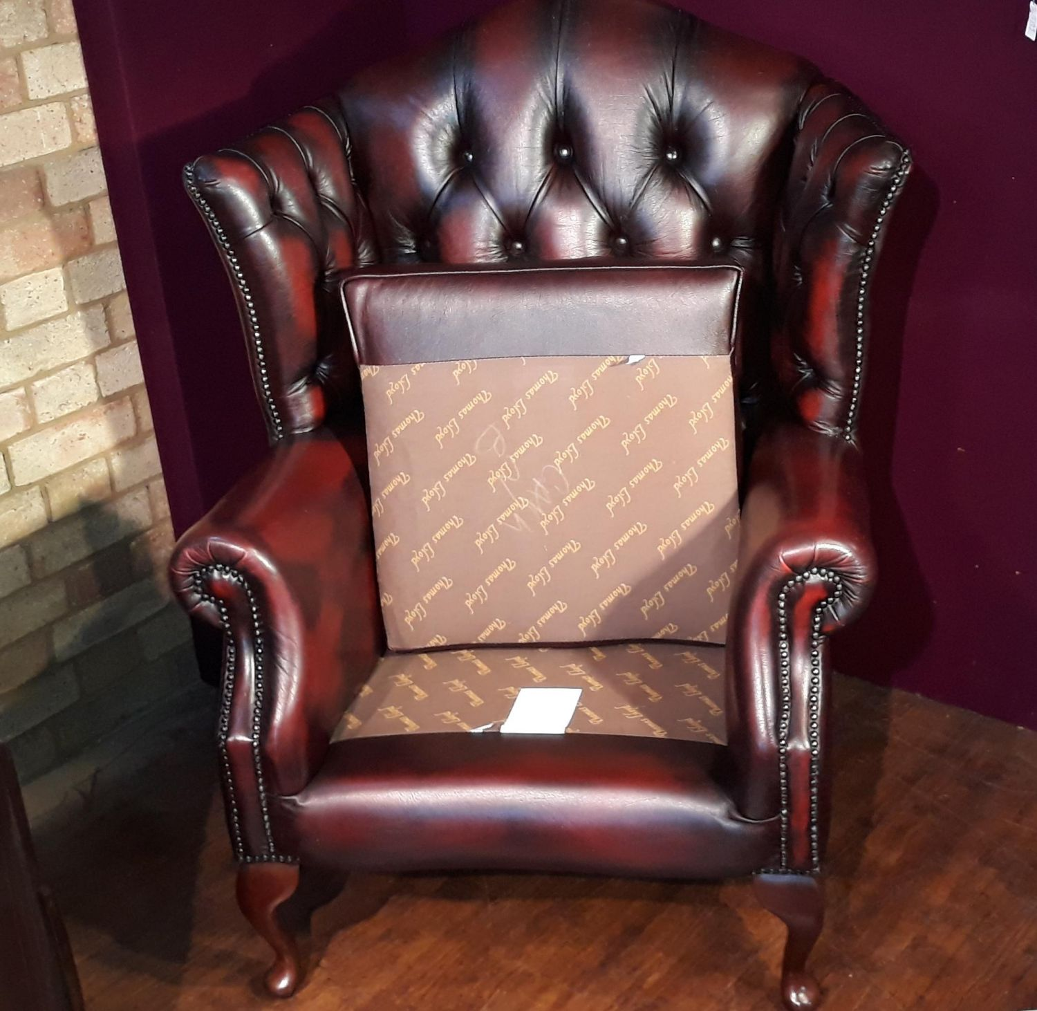 Thomas Lloyd Oxblood Chesterfield Style Armchair - Antique ...