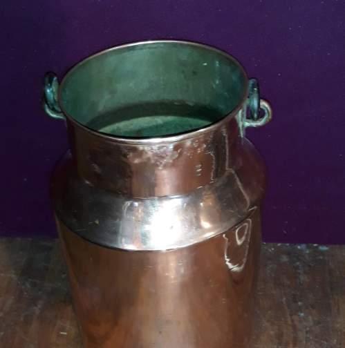 German Copper Milk Churn or Umbrella Stand image-4