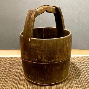 Dutch Iron Banded Wooden Water Pail