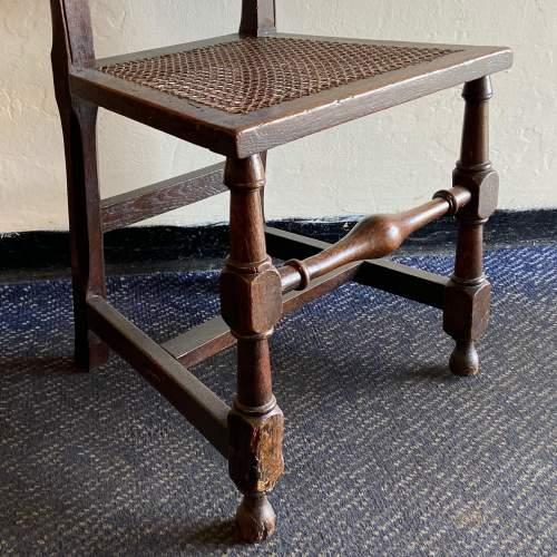 19th Century Oak Hall Chair image-2