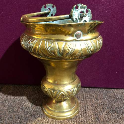 19th Century Gilt Brass Holy Water Font and Shaker image-2
