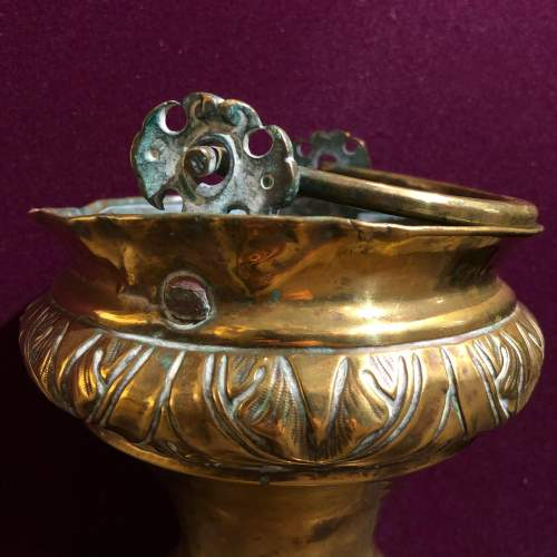 19th Century Gilt Brass Holy Water Font and Shaker image-4