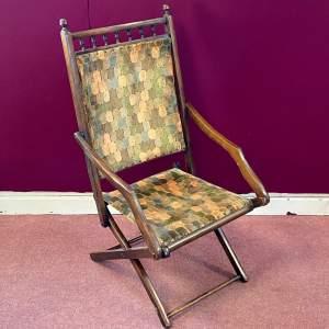 Edwardian Folding Campaign Chair