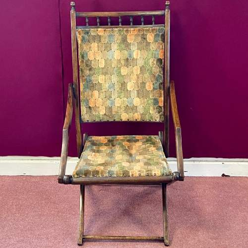 Edwardian Folding Campaign Chair image-2