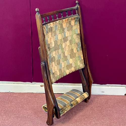 Edwardian Folding Campaign Chair image-3