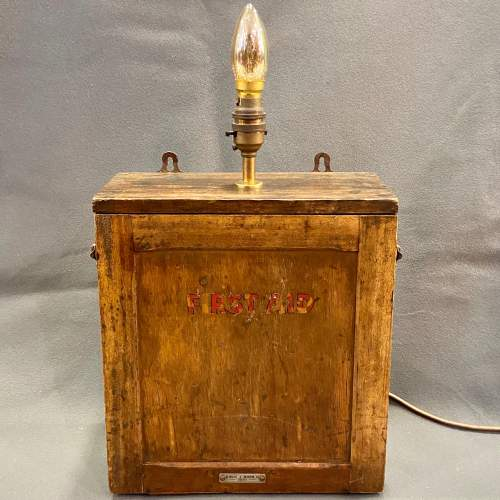 Vintage First Aid Box Lamp image-1