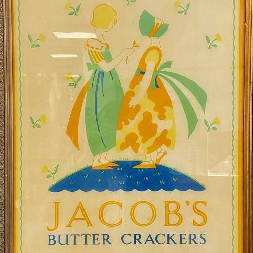 Original Jacobs Butter Crackers Advertising Sign and Frame image-2