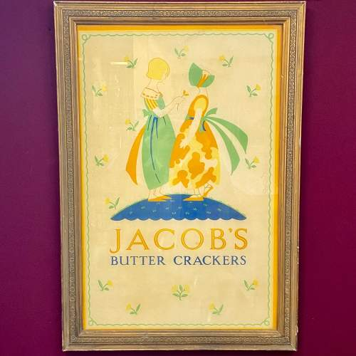 Original Jacobs Butter Crackers Advertising Sign and Frame image-1