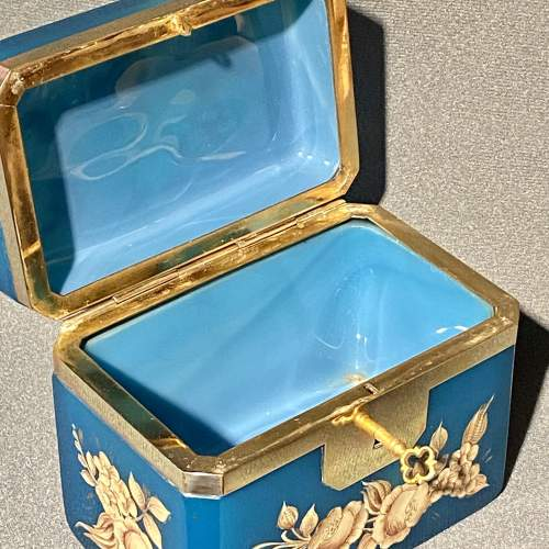 Late 19th Century Small Opaline Glass Casket image-3
