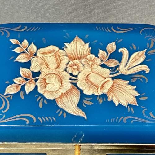 Late 19th Century Small Opaline Glass Casket image-4