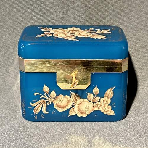 Late 19th Century Small Opaline Glass Casket image-2