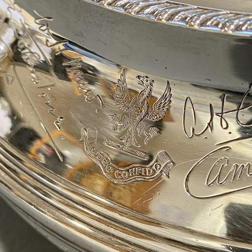Admiral J.C.Tovey Inscribed Solid Silver Teapot image-4