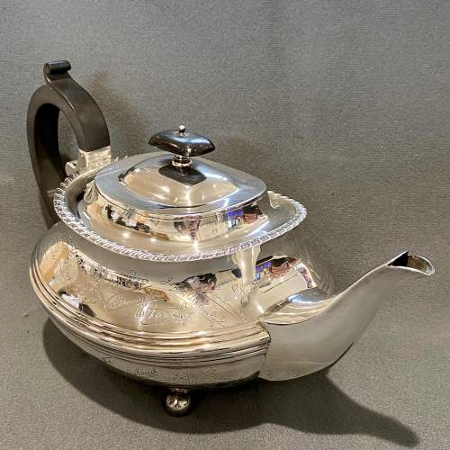 Admiral J.C.Tovey Inscribed Solid Silver Teapot image-1