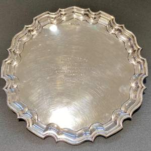 Admiral J.C.Tovey inscribed Solid Silver Tray