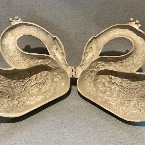 Vintage Pewter Swan Chocolate Mould image-4
