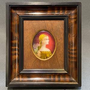 Late 19th Century Framed Limoges Enamel Plaque
