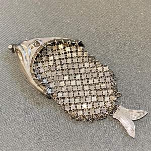 Vintage German Novelty Silver Fish Purse