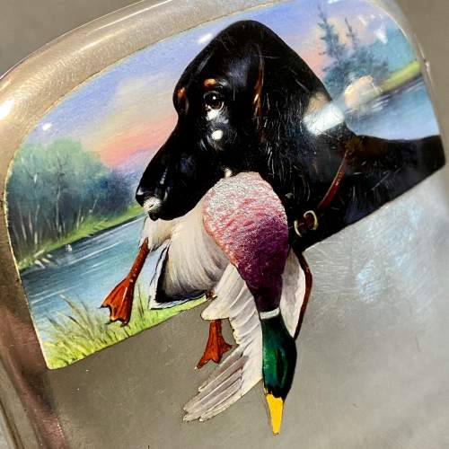 Fine Silver Case with Hunting Dog in Enamel image-3