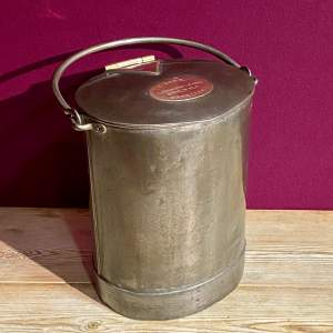 Steel and Brass Two Gallon Milk Bucket
