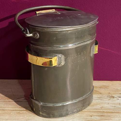 Steel and Brass Two Gallon Delivery Bucket image-1