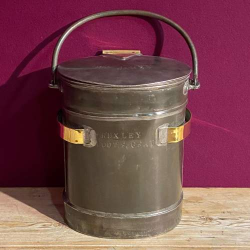 Steel and Brass Two Gallon Delivery Bucket image-2