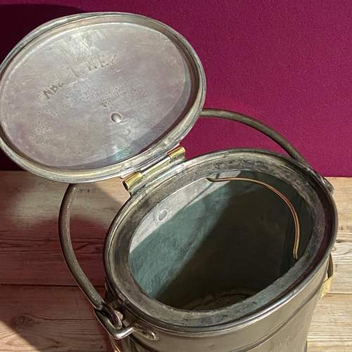 Steel and Brass Two Gallon Delivery Bucket image-4