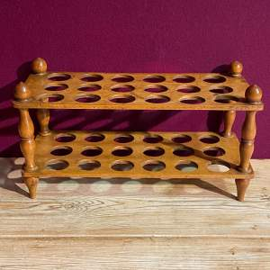 Wooden Three Dozen Two Tier Egg Rack