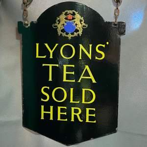 Vintage Lyons Tea Enamel Signage