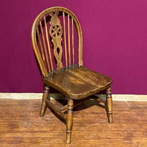 Vintage Childs Spindle Back Chair image-1