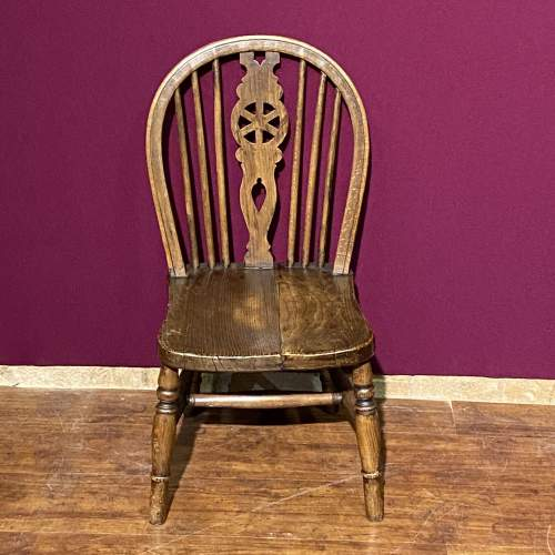 Vintage Childs Spindle Back Chair image-2