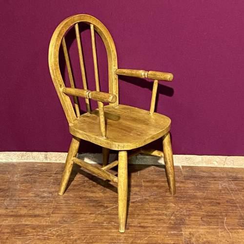 Vintage Childs Stick Back Chair image-1