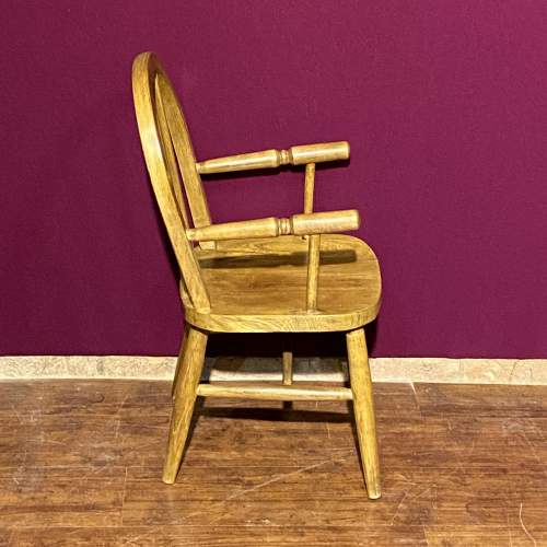 Vintage Childs Stick Back Chair image-2