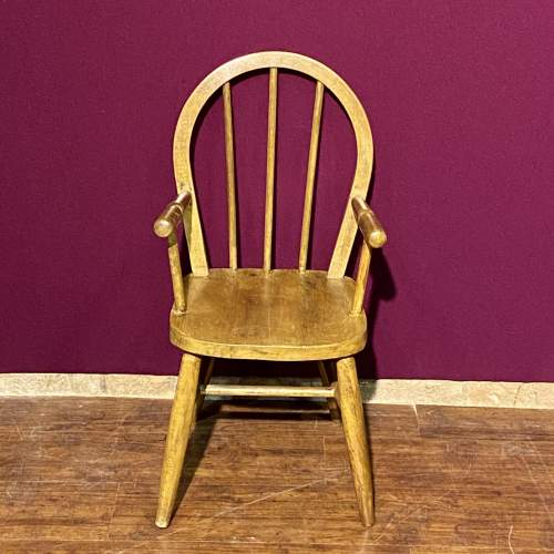 Vintage Childs Stick Back Chair image-3