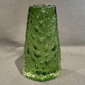 Whitefriars Meadow Green Glass Volcano Vase