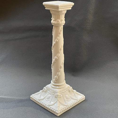 Pair of Royal Worcester Creamware Porcelain Candlesticks image-3