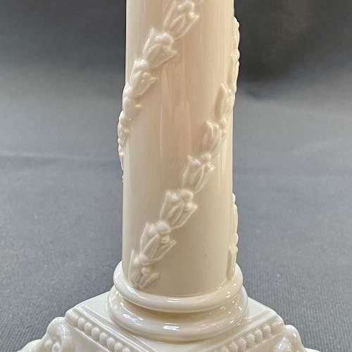 Pair of Royal Worcester Creamware Porcelain Candlesticks image-5