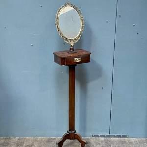 19th Century Mahogany Gents Shaving Mirror