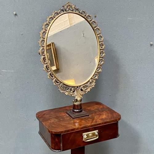 19th Century Mahogany Gents Shaving Mirror image-2