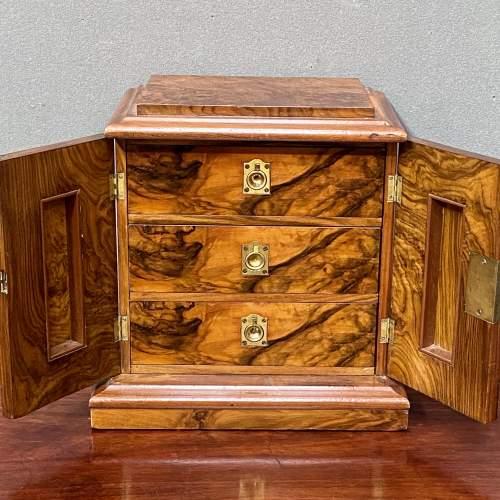 19th Century Small Figured Walnut Cabinet image-3