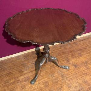 19th Century Mahogany Tilt Top Table with Pie Crust Edge