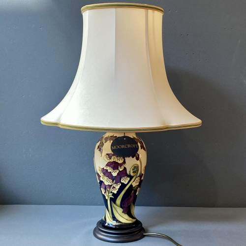 Moorcroft Pottery Foxgloves Table Lamp image-1