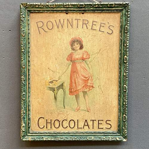 Vintage Framed Rowntrees Chocolates Advertising Sign image-1