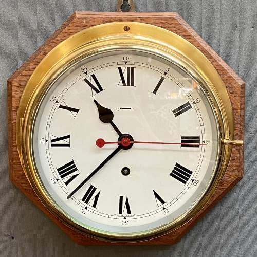 Large Brass Ships Clock image-2