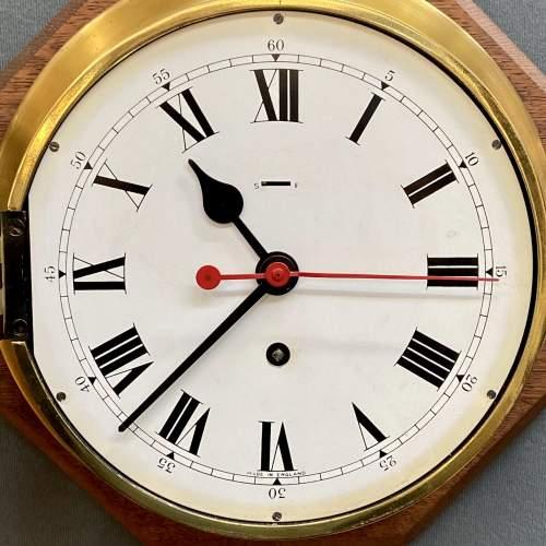 Large Brass Ships Clock image-3