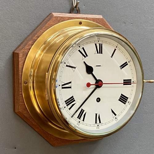 Large Brass Ships Clock image-1