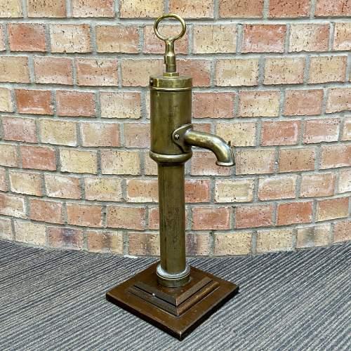 Antique Brass Water Pump image-1