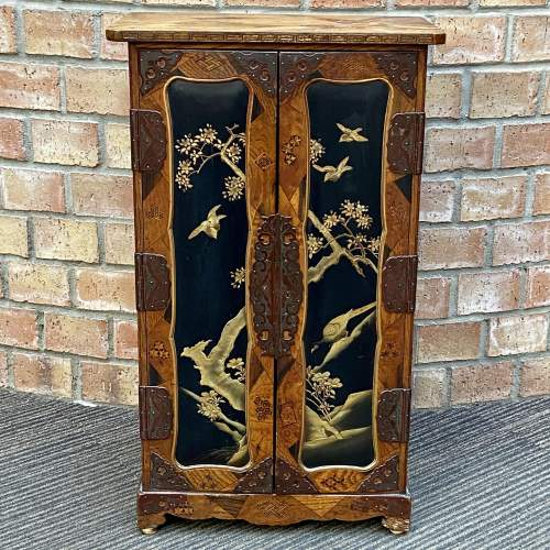 Fine Oriental Inlaid Lacquered Cabinet image-1