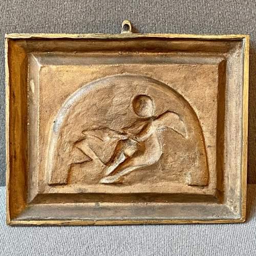 Late 19th Century Bronze Plaque Depicting an Amorini image-3