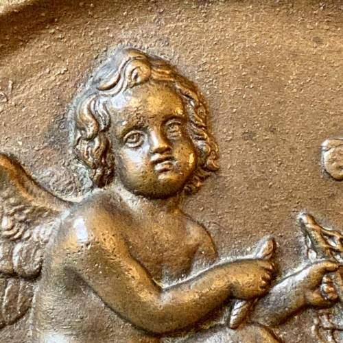 Late 19th Century Bronze Plaque Depicting an Amorini image-4
