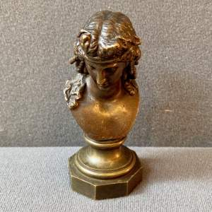 Antique French Bronze Bust of a Lady Circa 1900